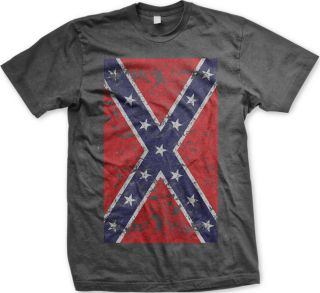 Confederate Flag South Southern Rebel Redneck Stars and Bars New Mens