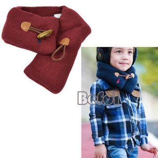 Trendy Baby Toddler Kids Boys Girls Warm Woolen Neck Warmer Wraps