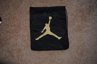 Air Jordan Jumpman23 Black Gold School Book Bag Backpack Sackpack Sac