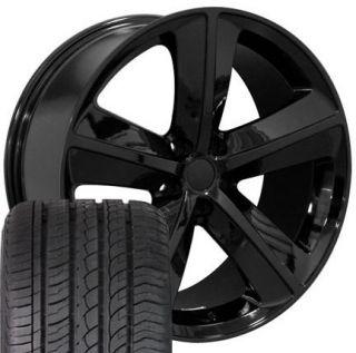 20 Challenger SRT Black Wheels Set of 4 Rims & Tires Fit Dodge