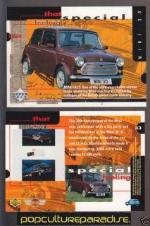 1989 austin mini 30 cooper 30th ann british car card