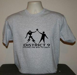 District 9 Nine sci fi Star Trek T shirt retro cool funny student XXXL