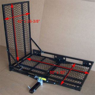 steel 2 hitch wheel chair scooter bike ramp carrier 500