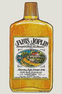 Blues Janis Joplin at San Antonio * Whiskey * Concert Poster 1969
