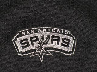 NBA BASKETBALL SAN ANTONIO SPURS POLO S/S SHIRT SZ XXL BLACK GRAY