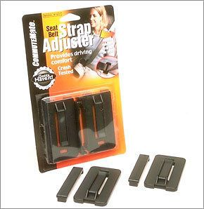 Family 2 Pack) Seatbelt Strap Adjuster CommuteMate Seat Belt Clip