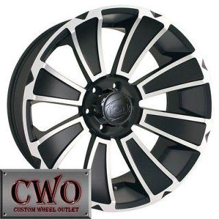 18 Black ION 180 Wheels Rims 6x139.7 6 Lug Chevy GMC Tundra Titan