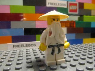 lego ninjago sensei wu minifigure white ninja master time left