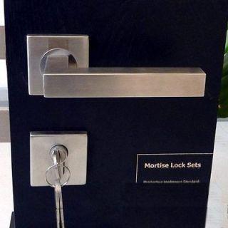 304 STAINLESS STEEL LEVER HANDLES DOOR ENTRANCE LOCK SET MORTISE LOCK