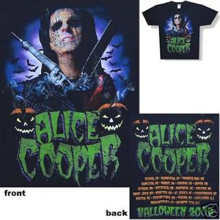ALICE COOPER   HALLOWEEN 2008 TOUR BLACK T SHIRT   NEW LARGE L