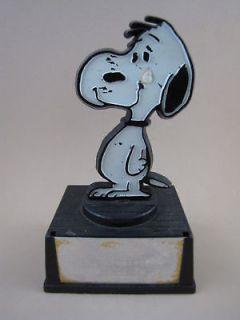 AS IS Peanuts Gang SNOOPY STATUE AVIVA TROPHY FIGURE Sad Teardrop Hong
