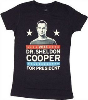 The Big Bang Theory Sheldon for President Womens Junior T Shirt