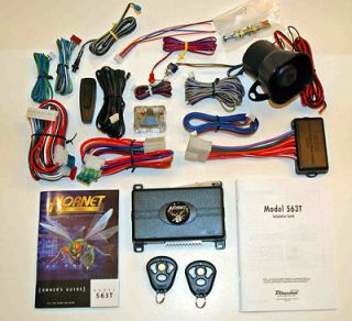 Directed electronics HORNET 563T SECURITY REMOTE START SYSTEM ALARM