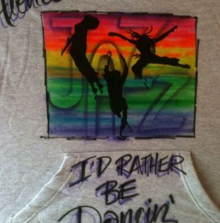 Modern Dance Tap Jazz Ballet Salsa Hoodie Sweatshirt Airbrush