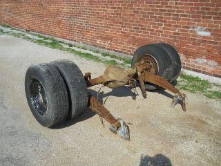 CHEVY BOX TRUCK REAR AXLE DANA 70 REAR END 16.5 wheels & tires dually