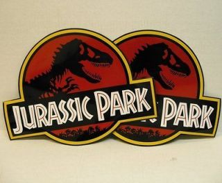 jurassic park 2 magnetic car door signs props movie time