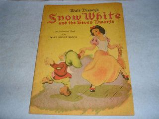 Vintage 1938 Walt Disney Snow White & The Seven Dwarfs Book no number