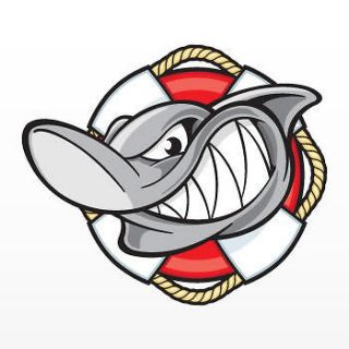 Decal Sticker Shark Lifeguard Navy Boat Patrol Protection Rescue