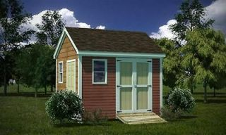 10 x 12 Storage Shed Plans Gable Roof Step By Step How To Build Guide