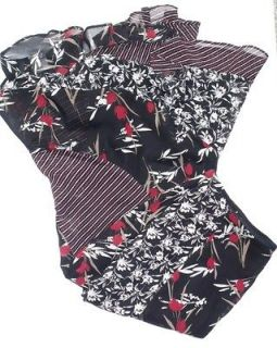 george women s black red ruffle dress skirt size 10