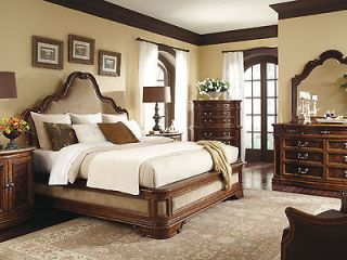 5pcs ITALIAN TRADITIONAL QUEEN KING UPHOLSTERED BEDROOM SET FURNITURE