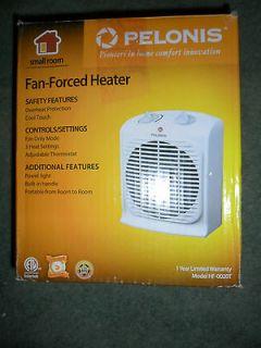 Pelonis Fan Heater HF 0020T 3 Heat Settings Adjustable Thermostat