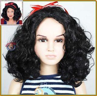 Snow White Disney Princess Kids Children Girl Halloween Wigs (Baby to