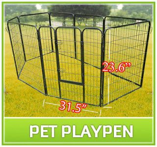 New Heavy Duty Pet Dog Cat Exercise Pen Playpen Fence Yard Kennel