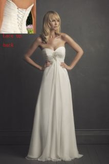 Simple White/Ivory Wedding Dress Bridal Bridesmaid Ball Gown Dress 8