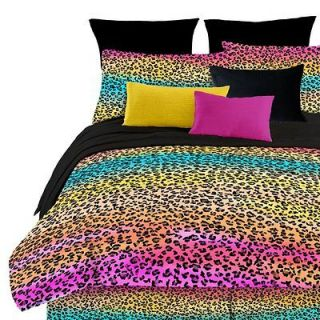 Leopard Print Comforter Set Luxurious Soft w/ Sham Girl Dorm Room NEW
