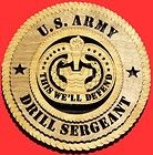 united states army drill sergeant birch wall plaque buy it