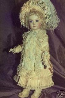 20 FRENCH ANTIQUE STYLE DOLL DRESS PATTERN ~ Girls Dress ~ ELISA