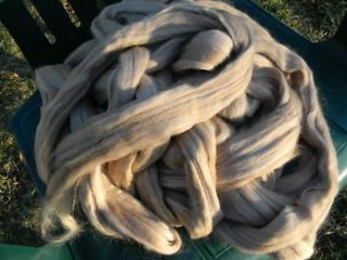 merino wool top spinning felting silver honey one pound time