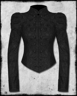 SPIN DOCTOR STEAMPUNK GOTH VTG VICTORIAN BLACK ALBERTINE CORSET LACE