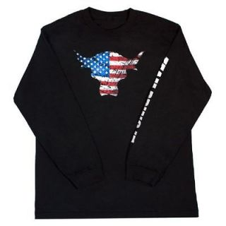 The Rock Team Bring It USA Bull Long Sleeve WWE Authentic T shirt NEW