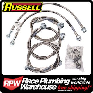 RUSSELL 2001 06 CHEVY GMC TRUCK w/ 4 6 Lift STAINLESS BRAKE LINE KIT