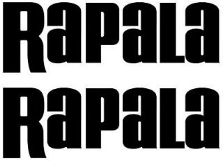 NEW RAPALA PAIR OF 2 FISHING BOAT DECALS STICKERS