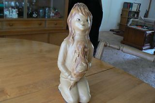 Newly listed Universal statuary , Plaster Figure, Little Girl with Dog