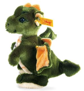 Steiff Raudi Dragon   yellow and green plush collectable soft toy