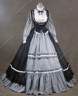 Gothic Lolita Dress Ball Gown Prom Steampunk Reenactment D190 XL