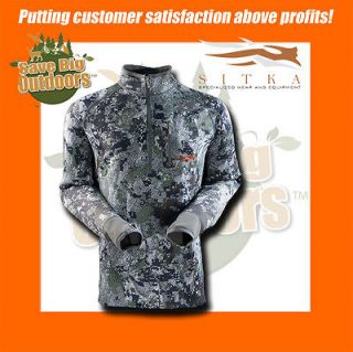 NEW L LG Large Sitka Gear Traverse Zip T Shirt Optifade Forest 10001