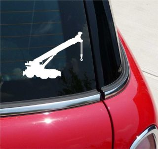 CRANE TRUCK MOUNTED SILHOUETTE EQUIPMENT GRAPHIC DECAL STICKER VINYL