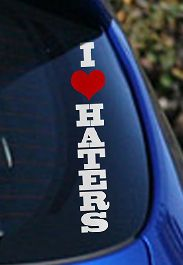 love haters sticker vinyl funny turbo decals cool srt sti evo dodge