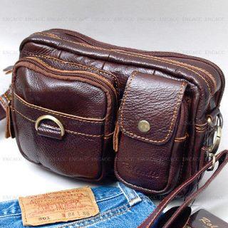 New Leather Mens Fanny Waist Packs Bag Wallet Business Messenger