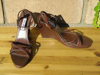 steve madden high heels brown leather pump sandal size 8 5