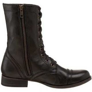 steve madden troopa black womens casual boots size 6 m
