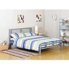 Your Zone Platform Bed Frame Metal Kids Teen Furniture Bedroom Twin