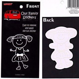 car decal our family stick people girl vinyl sticker from