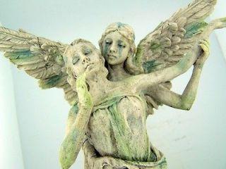 Marble Resin Gavreel Weeping Sorrowful Guardian Angel Embrace Home