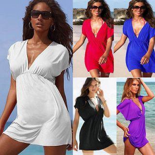 Womens summer Hawaiian Beach Cover up Wrap Dress US4 14 size S, M ,L